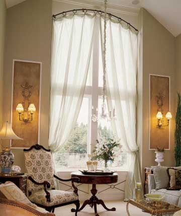 Curtains Ideas curtains for half moon windows : 17 Best images about Window Treatments on Pinterest | Curtain rods ...