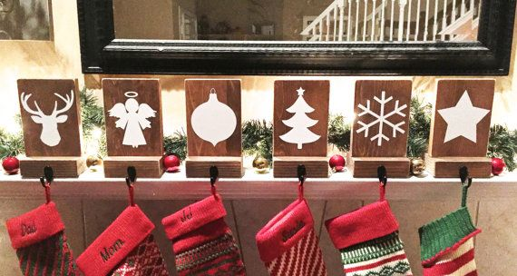 These Rustic Stocking Holders Are Unique And Functional Too T They Each Measure 5x 7 And Rustic Christmas Stocking Rustic Christmas Stocking Holders