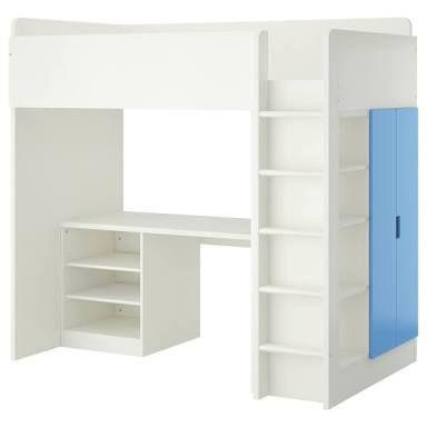 Bunk Beds With Desk Underneath Ikea Google Search Stuva Loft Bed Loft Bed Frame Ikea Loft Bed