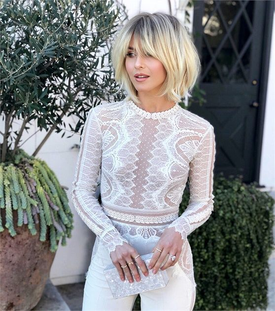 Julianne Hough Debuts a New 60s-Inspired Cut and Color by Riawna Capri