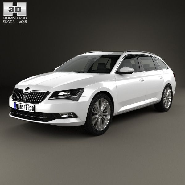 3d Model Of Skoda Superb Combi 2016 Volkswagen Vw Wagon Car 3d