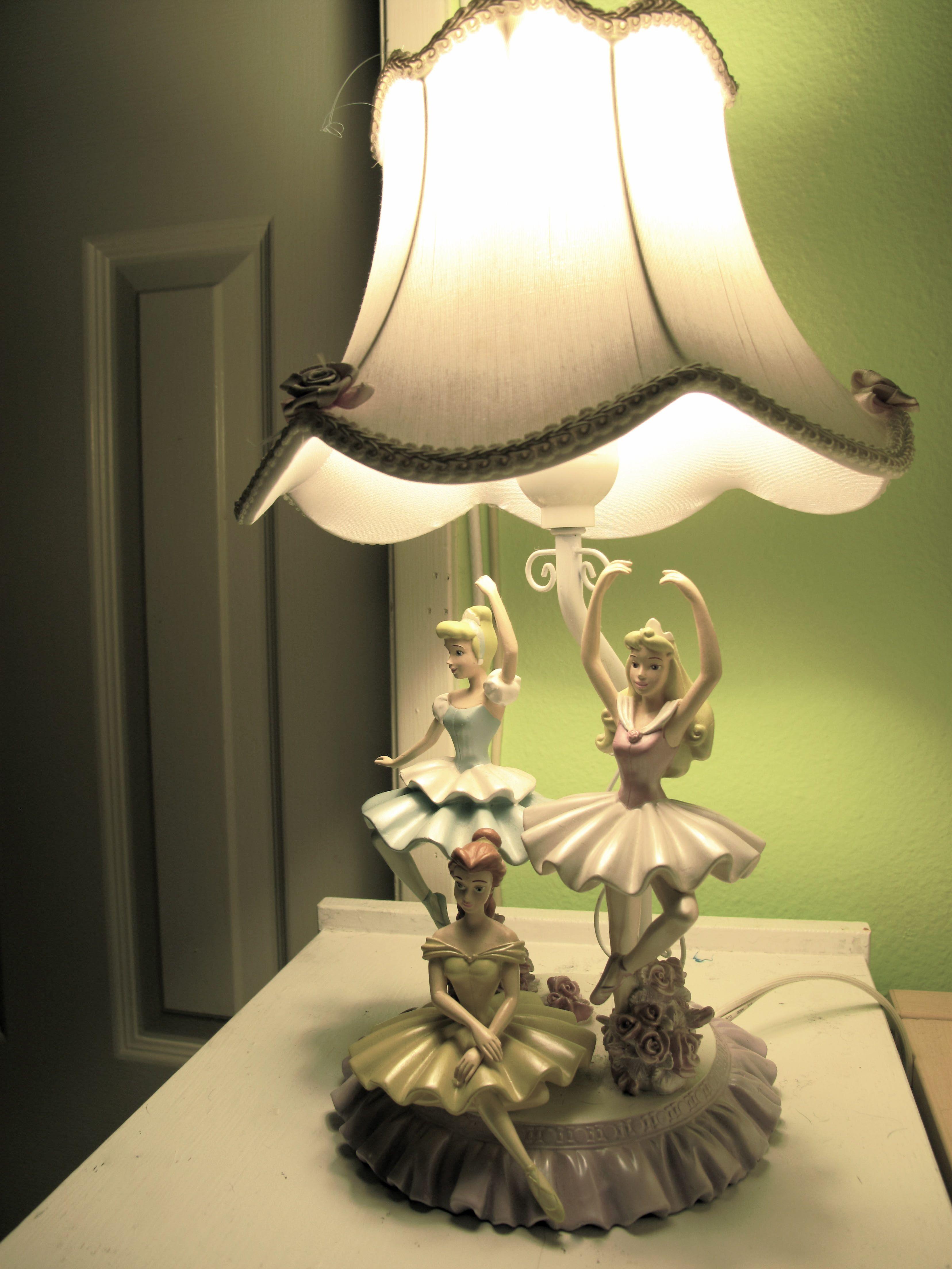 Disney Princess Ballerina Lamp - Cinderella, Belle, Aurora | From ...