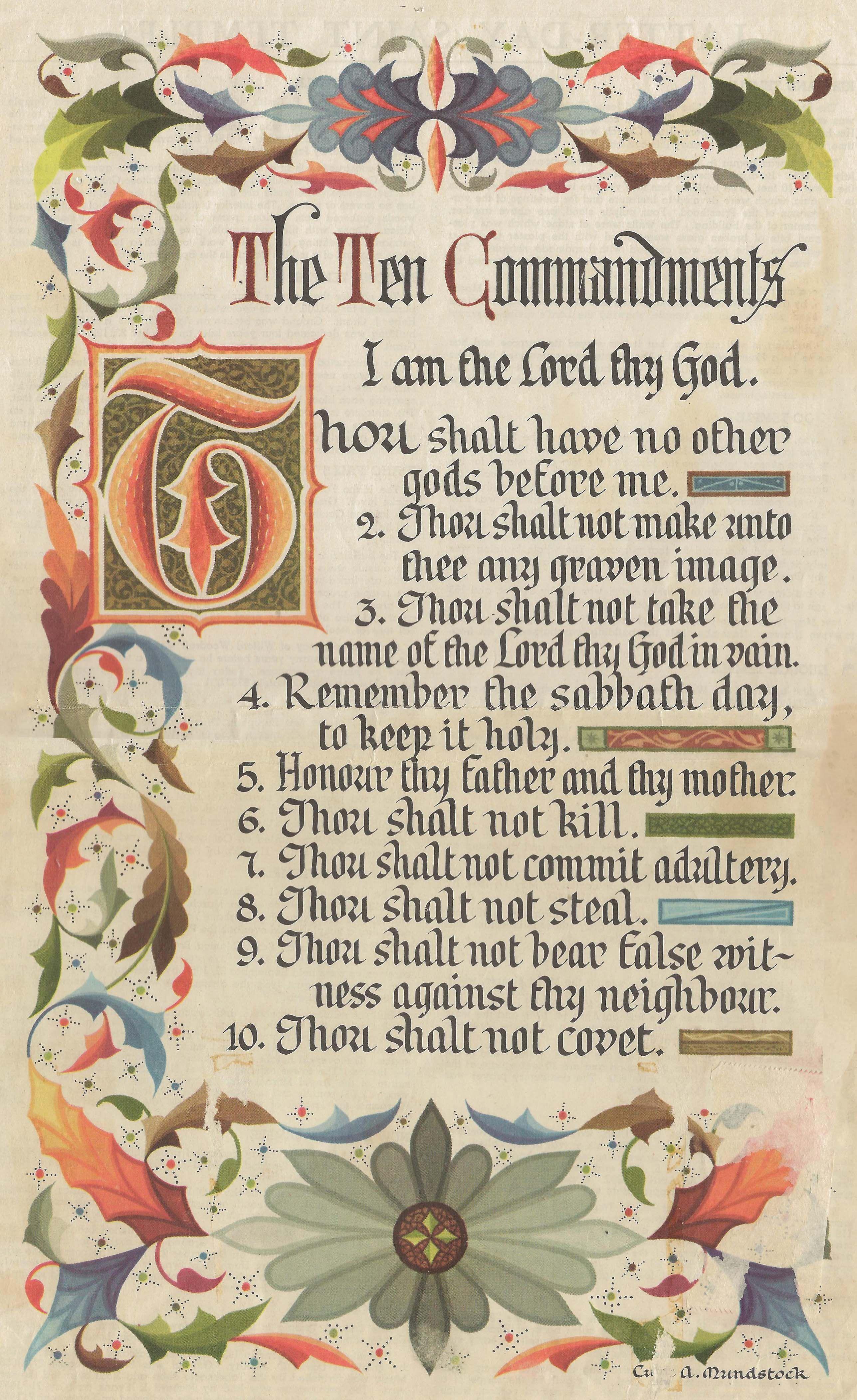 Tbt The Ten Commandments