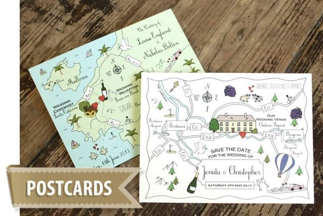 When Do You Order Wedding Invitations: Printable Custom Map Wedding Invitation, Save The Date Or