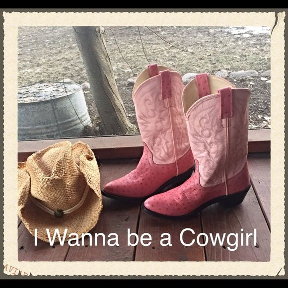 """SOLDPink & Unique Cowboy Boots Leather 6 Calling all sexy cowgirls...here are a pair of gorgeous two tone pink leather cowboy boots. In great """"broken in"""" condition. Couple minor scuffs give them a lil more rugged look. Size 6-7 Unbranded Shoes Heeled Boots"""
