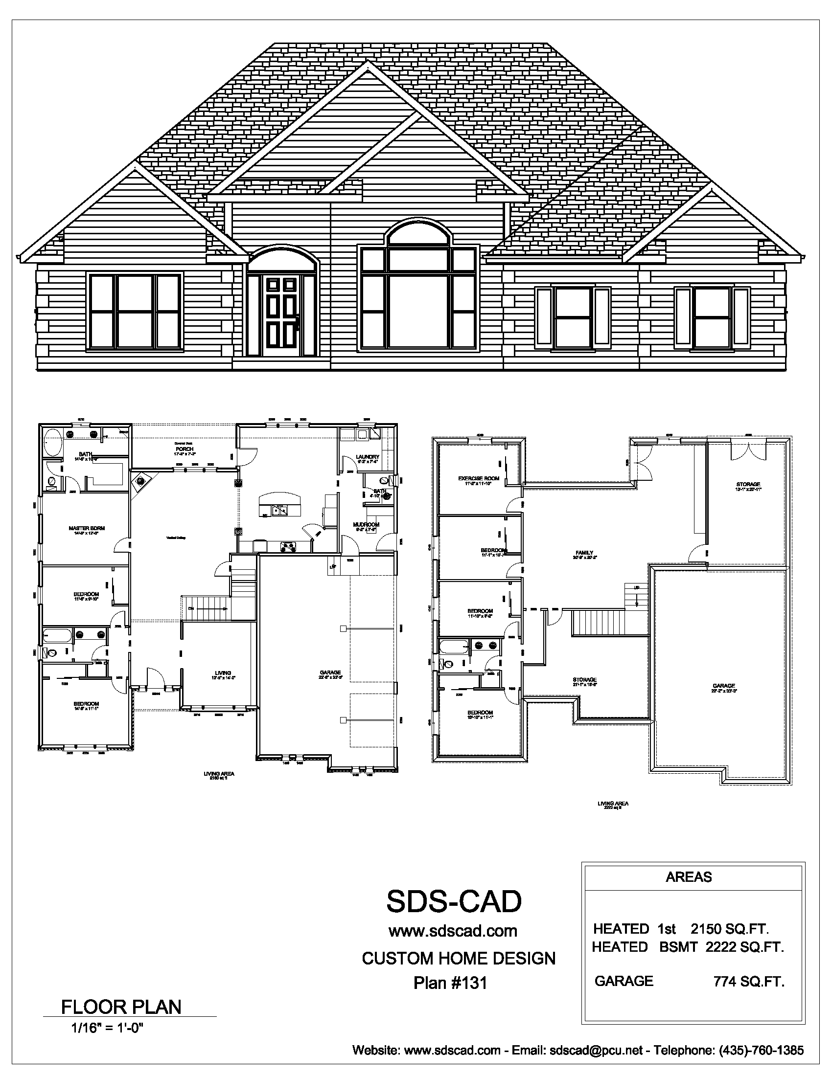 Complete House Plans Blueprints Construction Documents From Sdscad