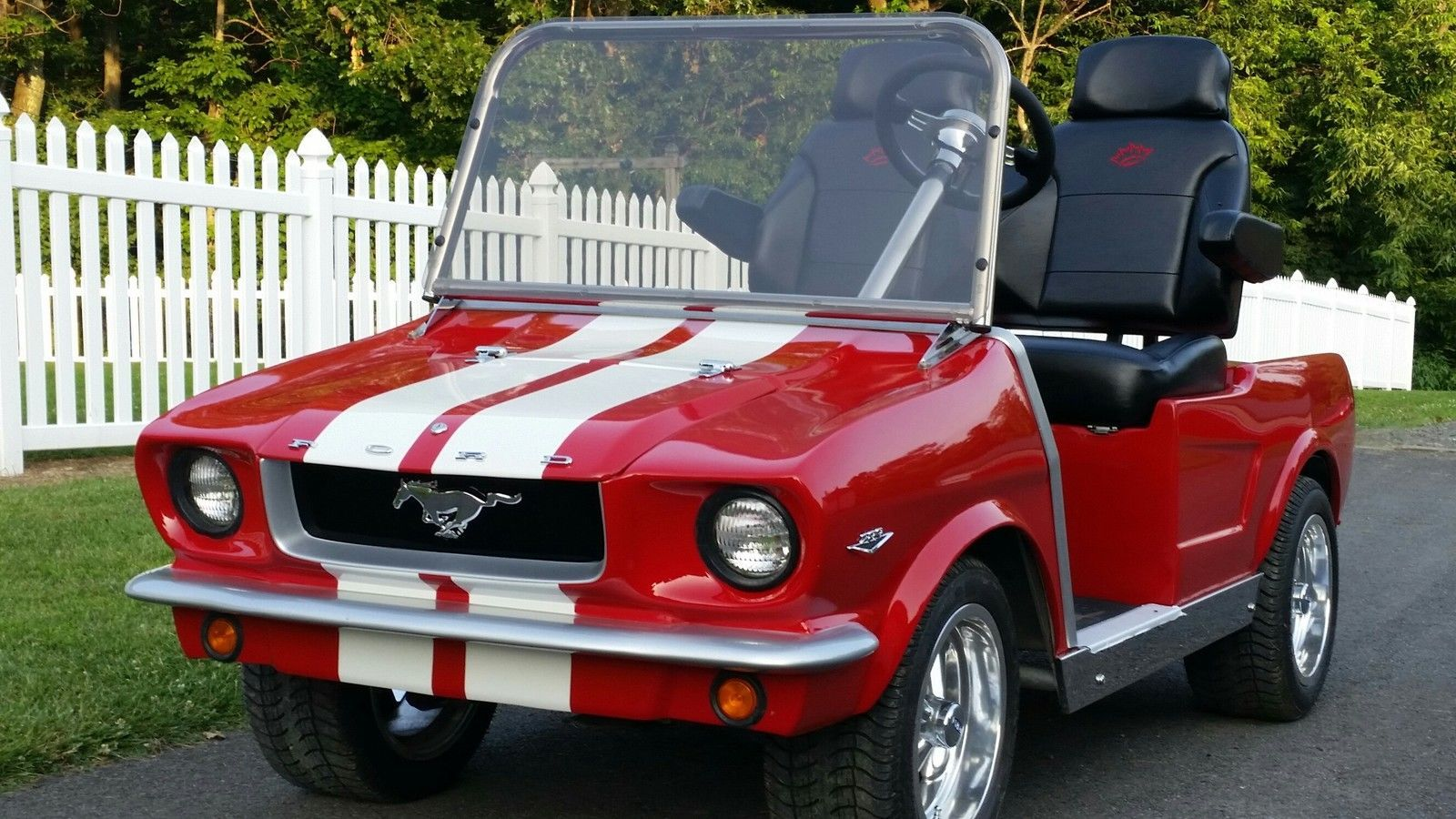 1965 ford mustang electric golf cart