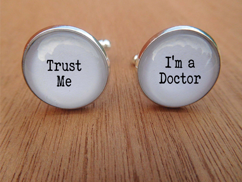 Doctor cufflinks trust me im a doctor cuff etsy