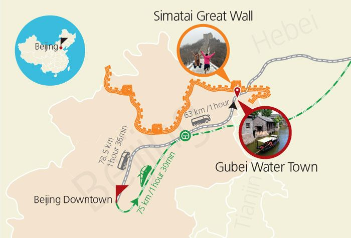 Great Wall Gubei Water Town Map Beijing China Traveling in china