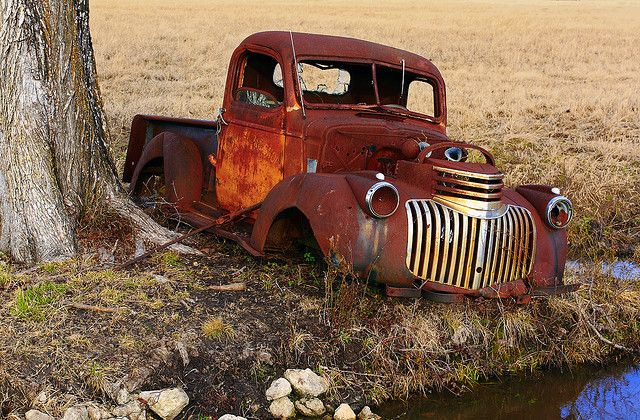 Crying Chevy Truck At Final Resting Place With Images Old