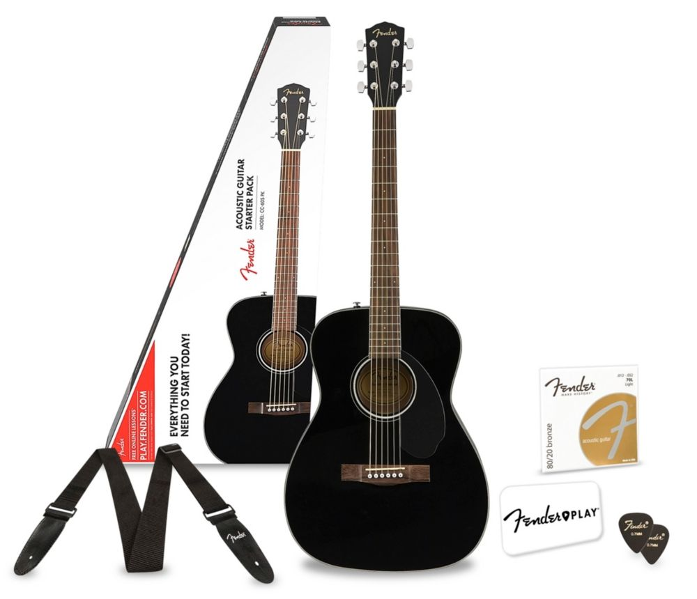 Fender Cc 60s Concert Acoustic Guitar Pack With Fender Play Black Acoustic Guitar Ideas Of Acoustic Guitar Black Acoustic Guitar Acoustic Acoustic Guitar