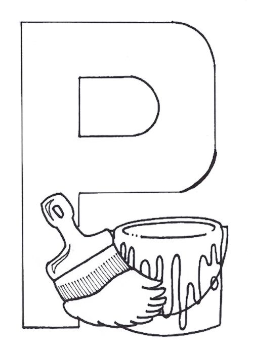 P For Paintbrush Coloring Pages Coloring Pages Coloring Pages