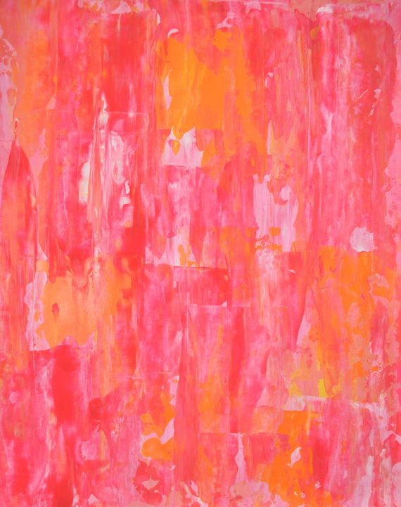 Orange and Pink Abstract Art Painting