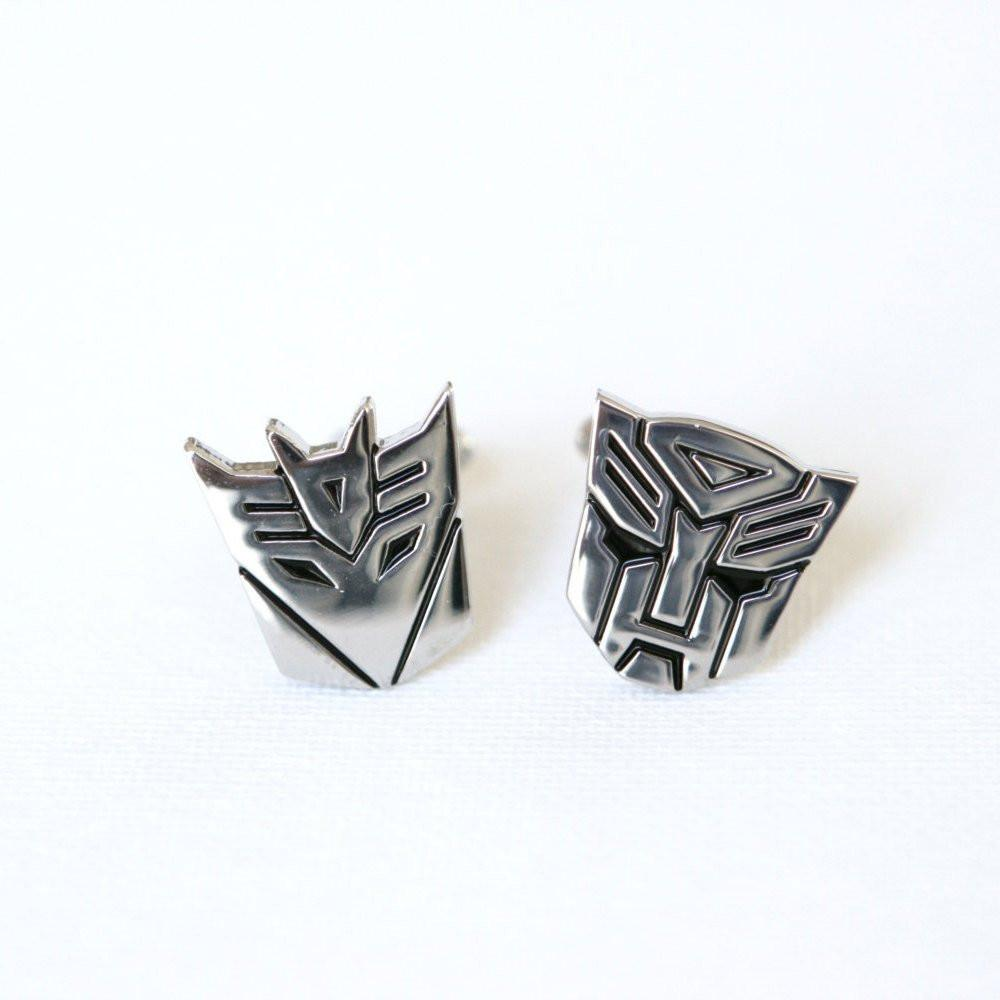 Silver cufflinks Mens gifts super hero Transformers gifts transformers Father/'s Day Gift Ideas Transformers Cufflinks