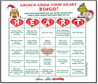 Grinch Christmas Grow Your Heart Bingo Game Free Grinch