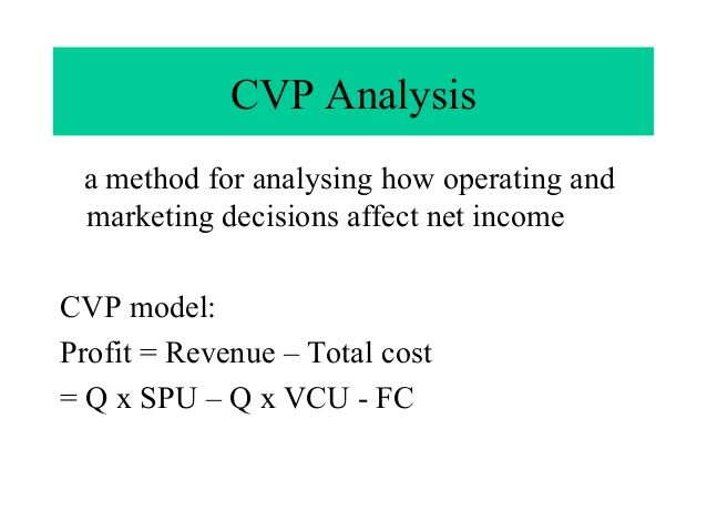 Cost-Volume-Profit (CVP) Analysis is also known as Breaku2013Even - break even analysis