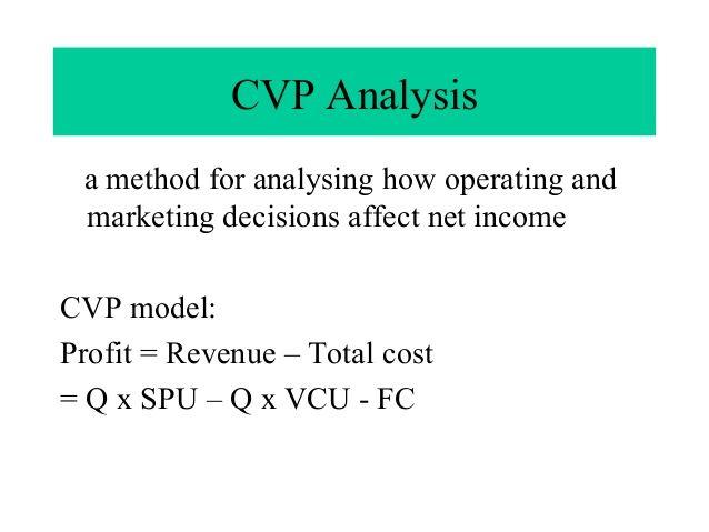 Cost-Volume-Profit (CVP) Analysis is also known as Breaku2013Even - break even analysis