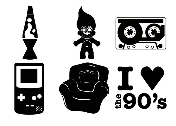 Download I LOVE THE 90's SVG cut files for 90s parties and vinyl ...