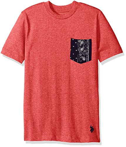 Boys\u0027 Short Sleeve Crew Neck T-Shirt with Printed Pocket tops tees