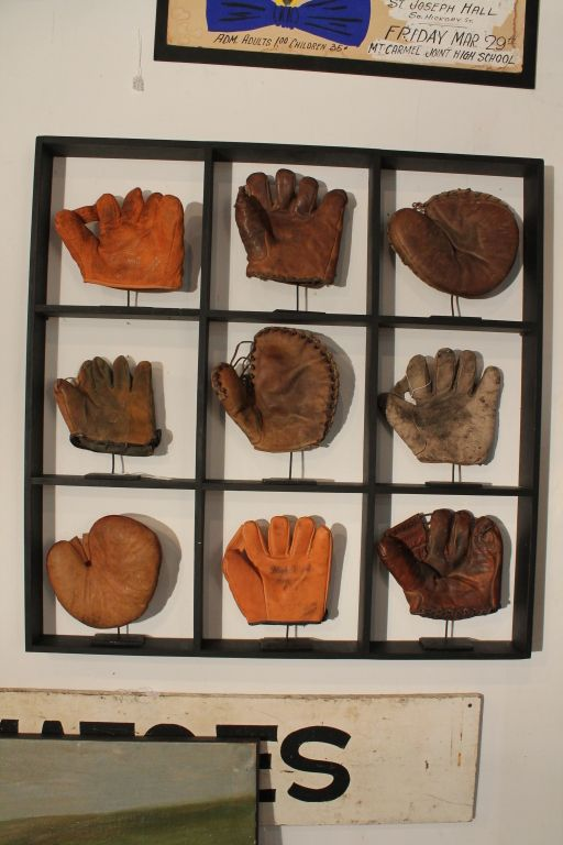 9 Baseball Glove Display Vintage Baseball Room Baseball