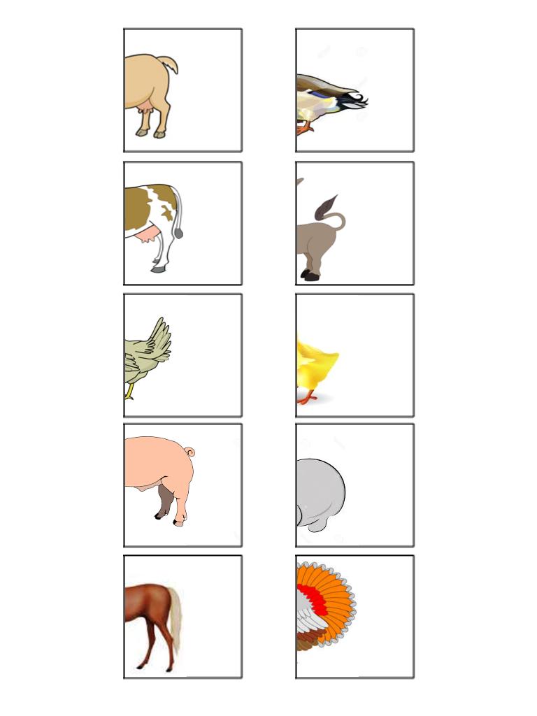 Memory animali da stampare cerca con google fattoria for Memory da stampare