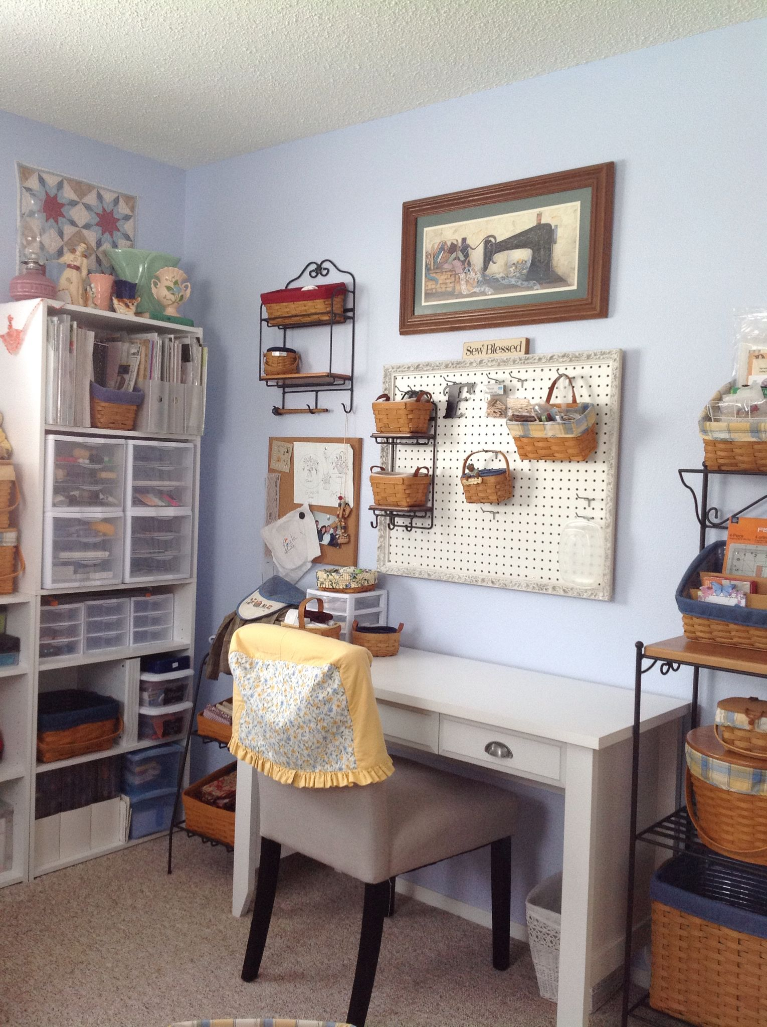 Designing A Sewing Room: Longaberger Sewing Room