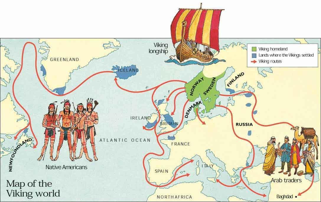 Map Of The Viking World Maps Pinterest Medieval World