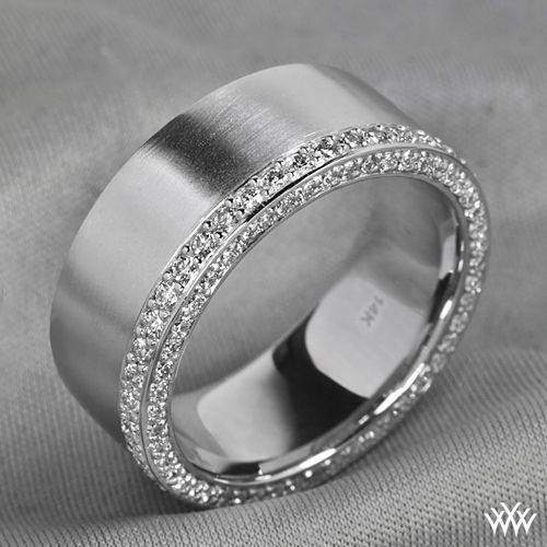Men Deserve Diamonds Too This Handsome Custom Comfort Fit Wedding Band Is Packed With 090