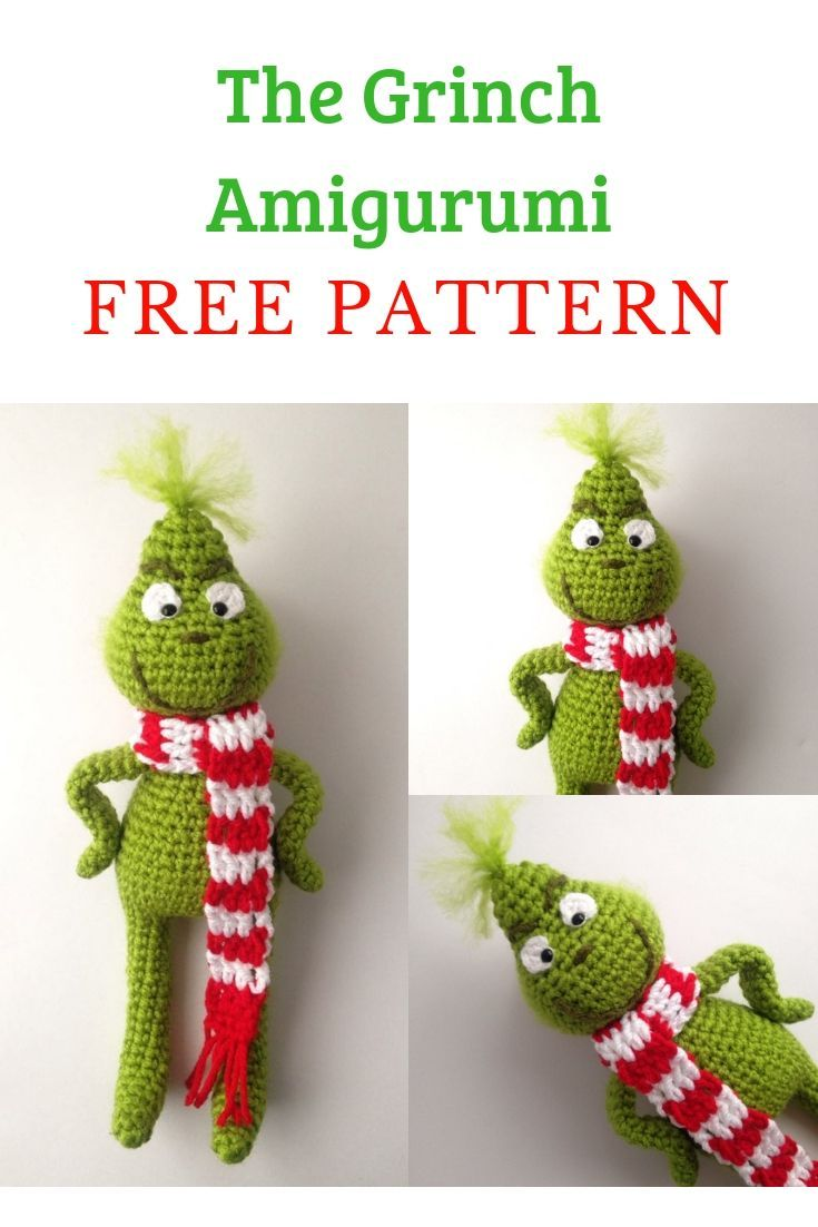 Free Crochet Pattern - The Grinch #grinchscarfcrochetpatternfree