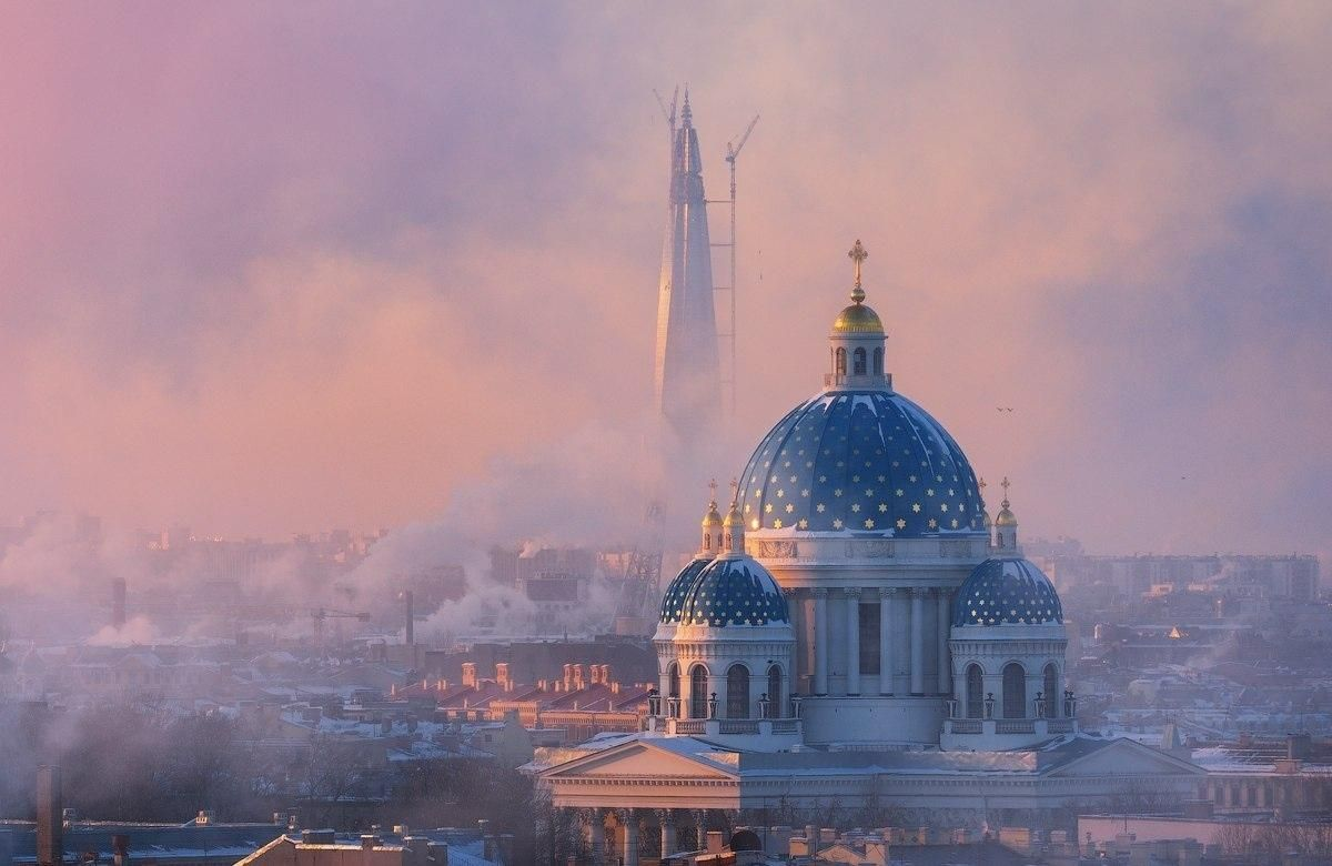 Saint Petersburg in the winter mist 2018 Russia  [1200x780