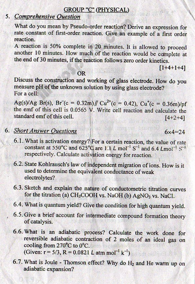 Error During Fetching Data Chemistry Question Paper This Or That Questions Question Paper