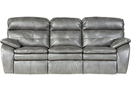Shop For A Bristol Bay Smoke Blended Leather Reclining Sofa At
