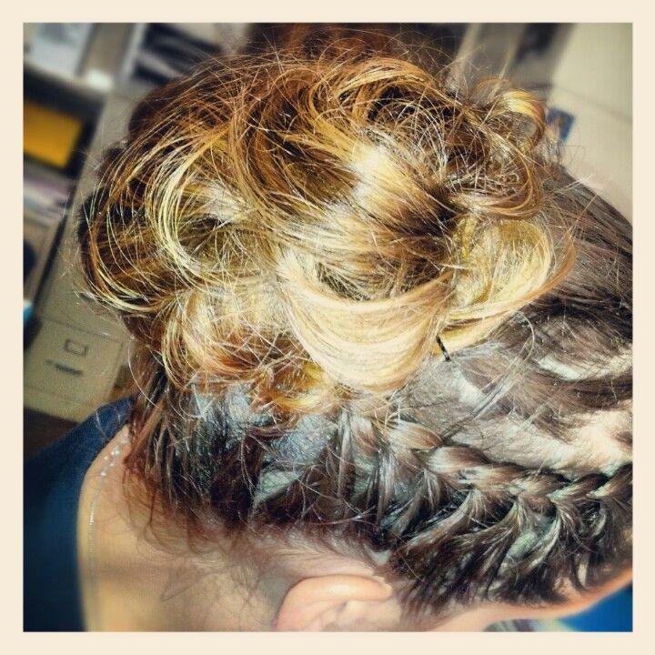 Messy bun side braid | Side braid, Braids, Hair styles