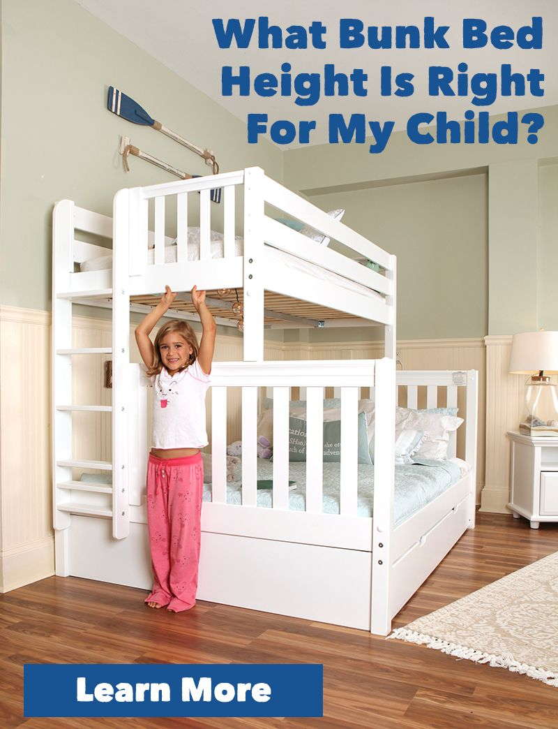 What Bunk Bed Height Is Right For My Child Bunk Beds Bed Loft Bunk Beds