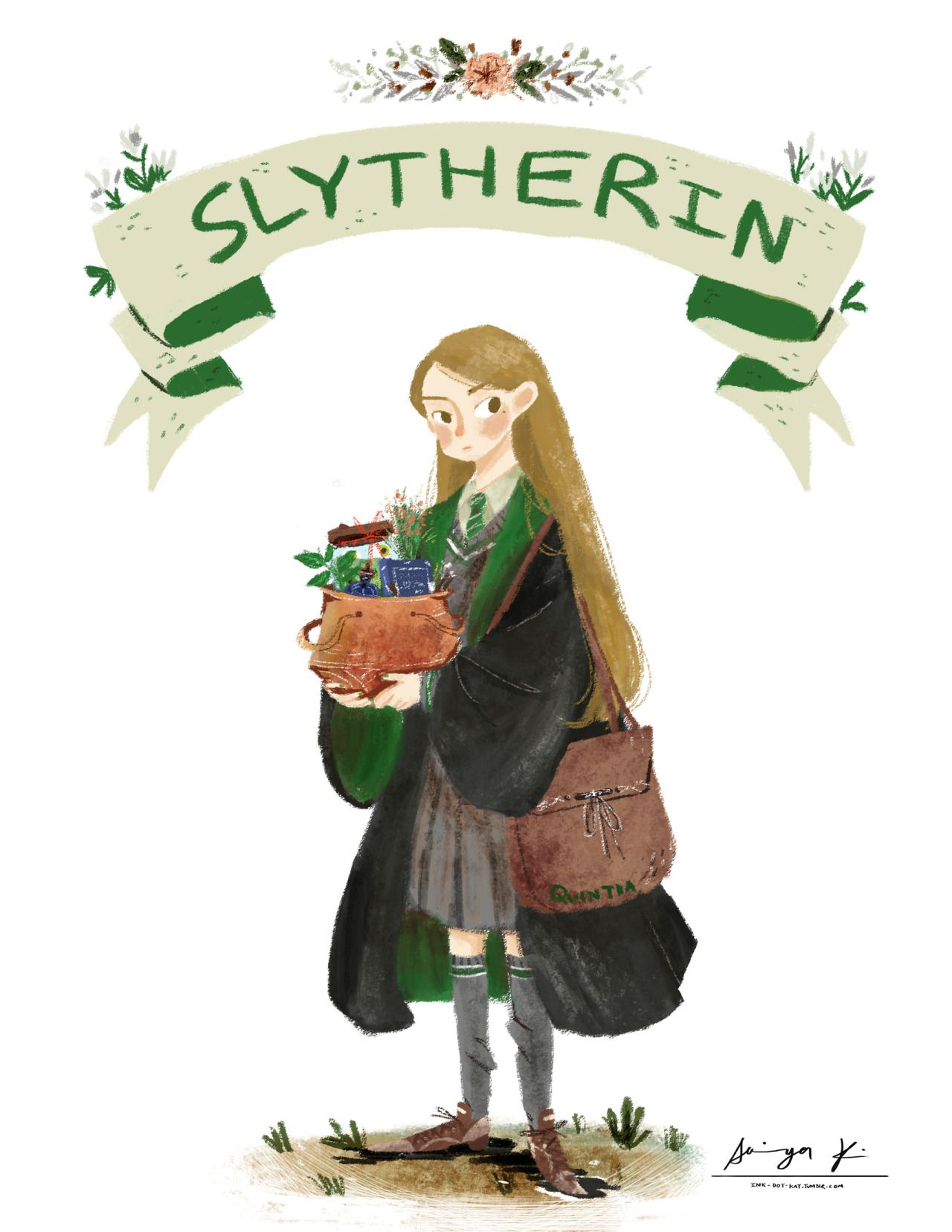 "we come form different houses"" slytherin ""after i posted the pic"