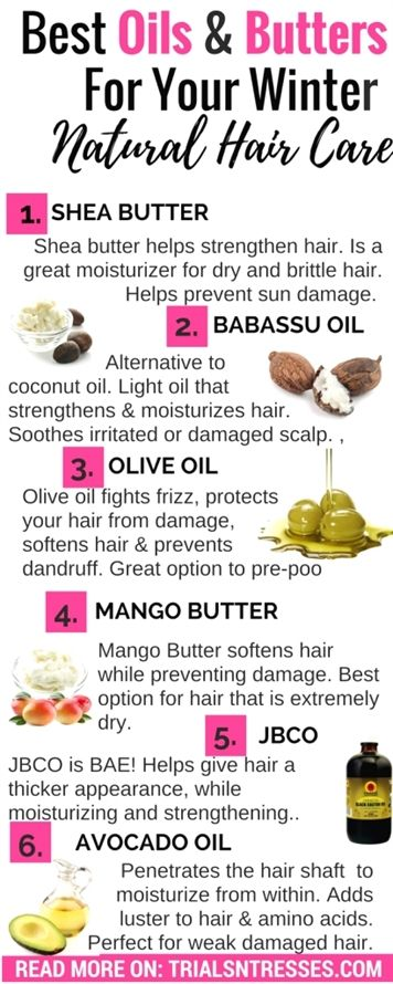 Best Oils And Butters For Winter Natural Hair Care #naturalhaircare