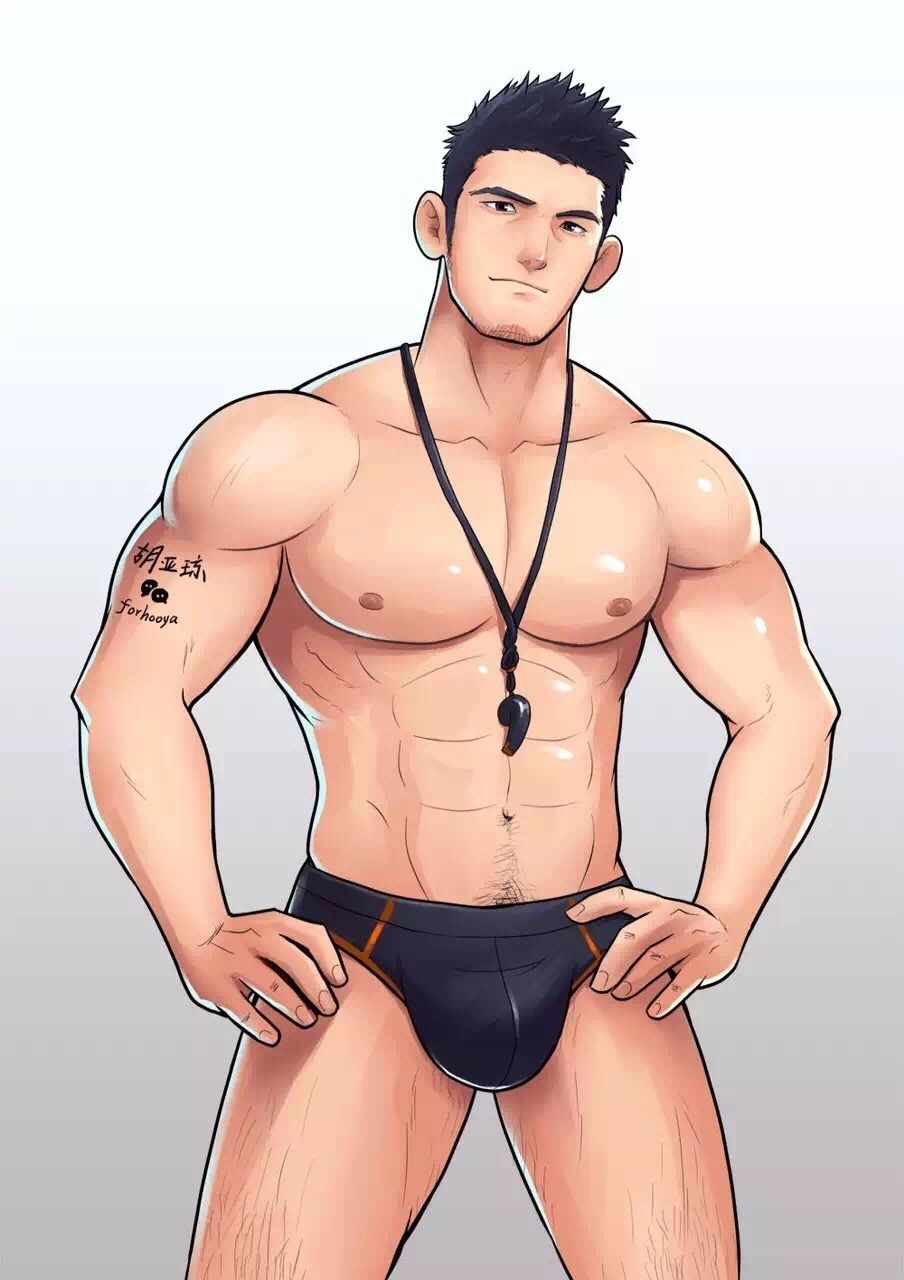 Sexy anime male nude