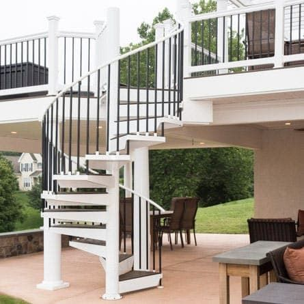 Best The Devon Composite Deck Spiral Stairs Spiral 640 x 480