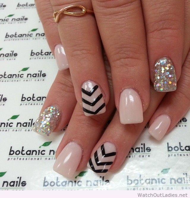 Botanic nails nude black and silver watchoutladies botanic nails nude black and silver prinsesfo Choice Image