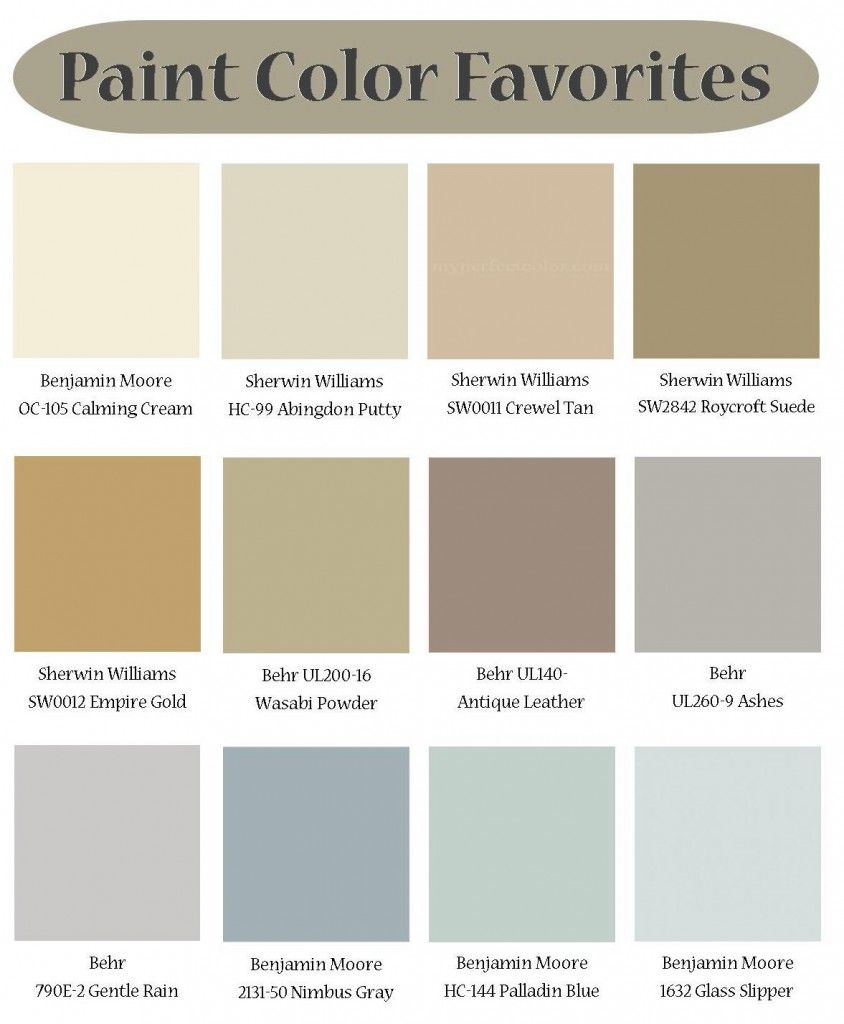 HGTV Color Palette HGTV Popular Paint Colors