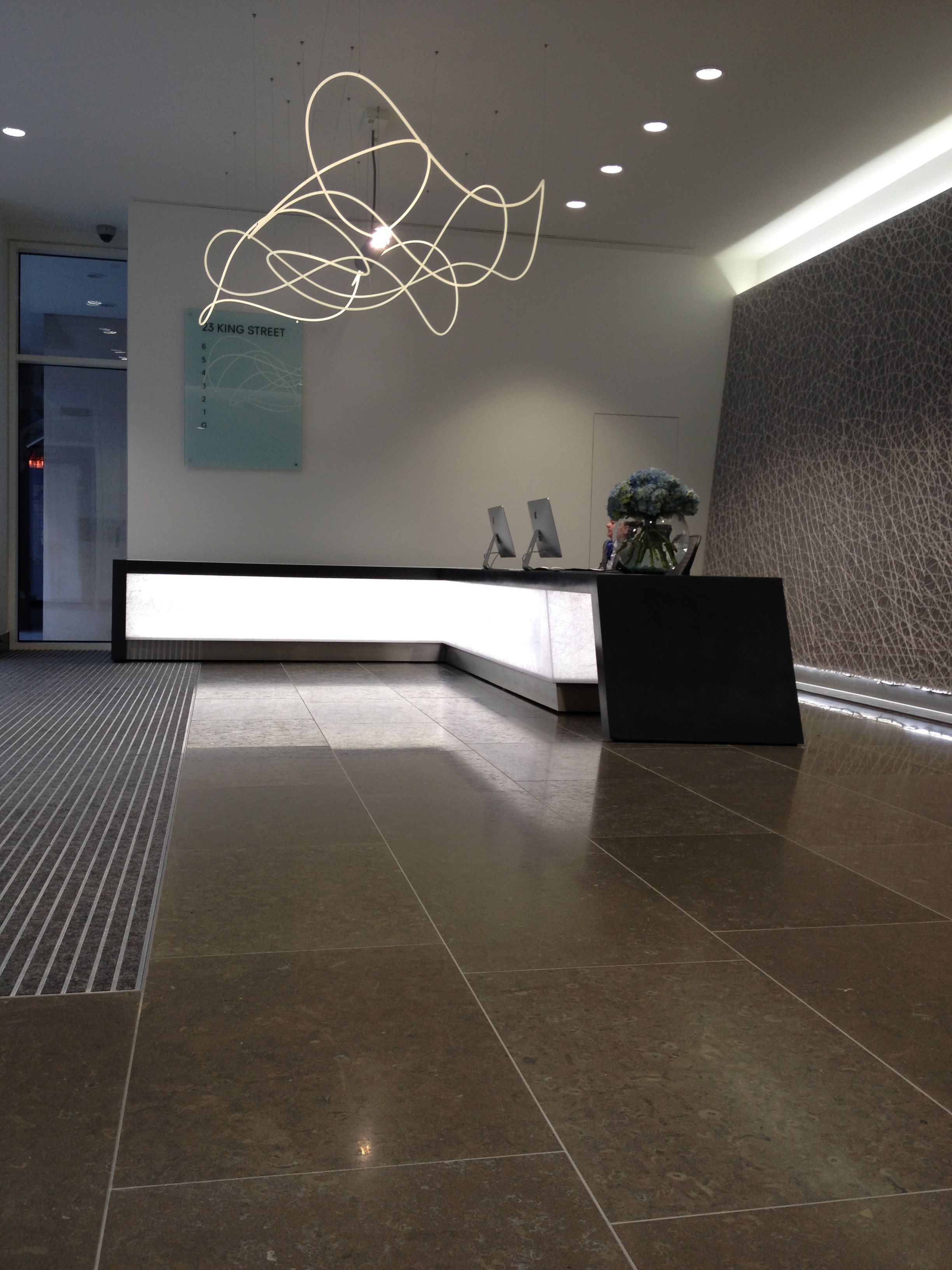 Bespoke Concrete Reception Desk Cladding By Mass Joinery By