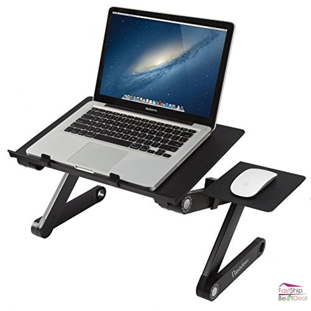 Portable Computer Laptop Notebook Desk Folding Table Mouse Holder
