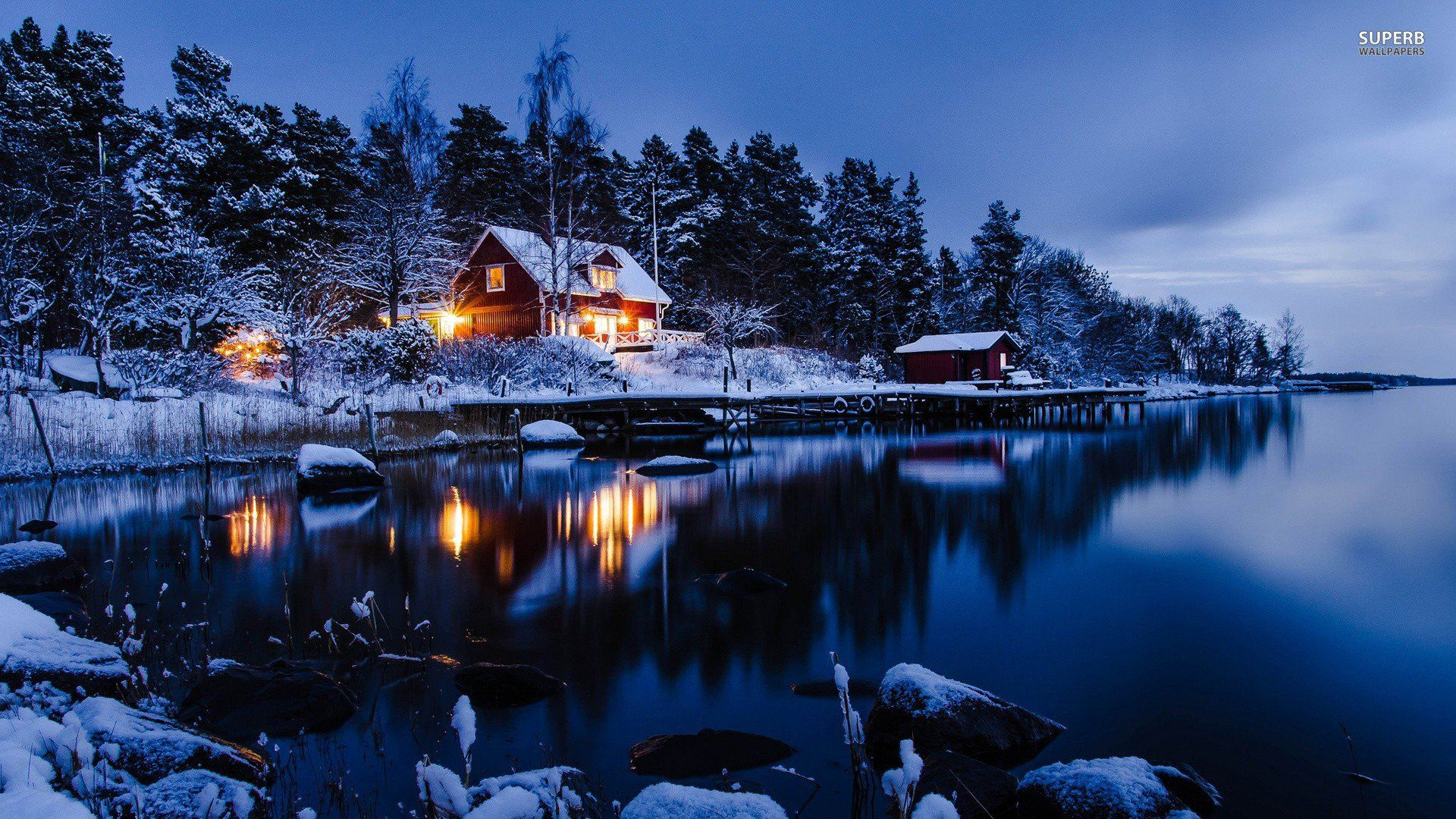 Beautiful Winter Night 1920x1080 Winter Cabin Winter Wallpaper Hd Winter Wallpaper