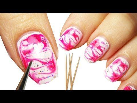 water marble nail art senza acqua!    #nailart
