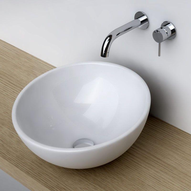 Vasque De Salle De Bain Ronde.Vasque A Poser Ronde Bol 42 Cm Ceramique Pure For The