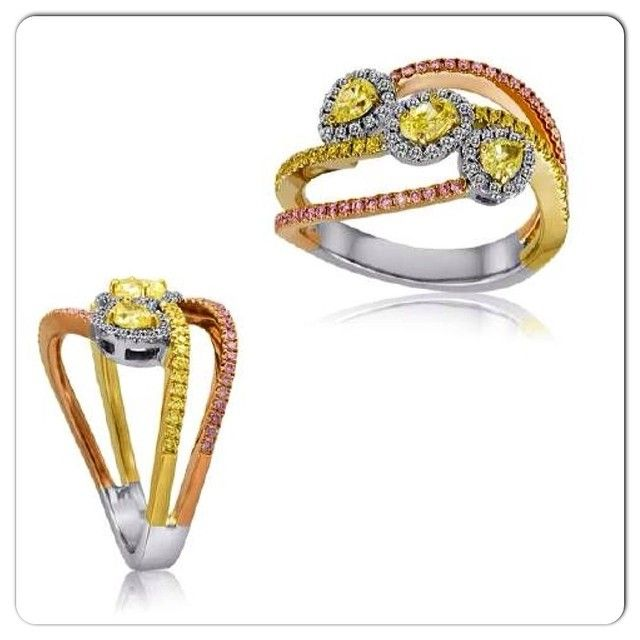 yellowdiamonds and pinkdiamonds Touch of Gold Jewelers St Maarten