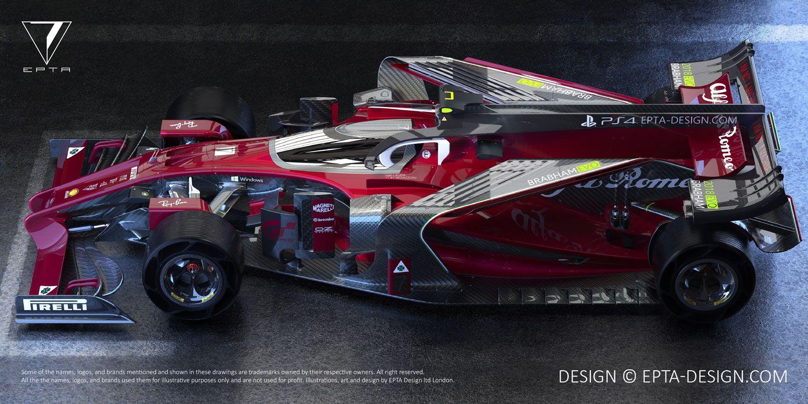Alfa Romeo 2018 Brabham EVO F1 Concept | Auto-Ext. | Pinterest | Evo ...