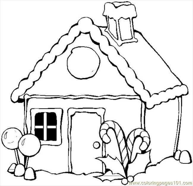 image detail for gingerbread house coloring pages printable
