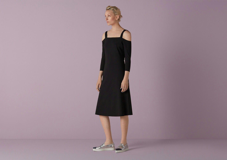 Marsham Split Shoulder Jersey Dress Finery X5hWEfs