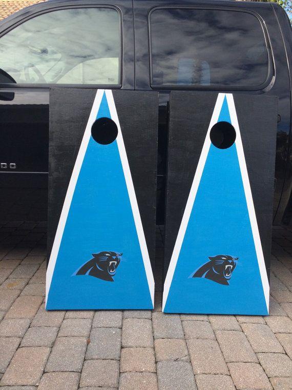 Carolina Panthers Custom Cornhole Boards By Flgames35 On Etsy